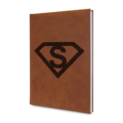 Super Hero Letters Leatherette Journal (Personalized)
