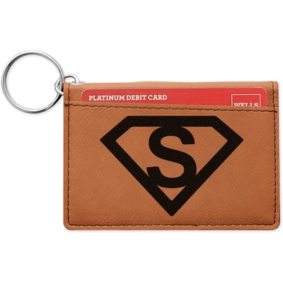 Super Hero Letters Leatherette Keychain ID Holder (Personalized)