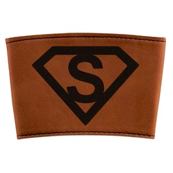 Super Hero Letters Leatherette Cup Sleeve (Personalized)