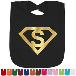 Super Hero Letters Foil Baby Bibs (Personalized)