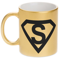 Super Hero Letters Gold Mug (Personalized)