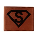 Super Hero Letters Leatherette Bifold Wallet (Personalized)