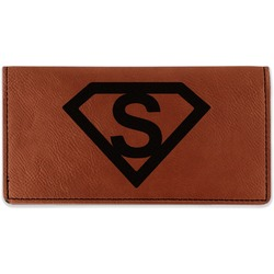 Super Hero Letters Leatherette Checkbook Holder (Personalized)