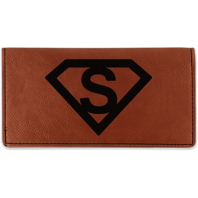 Super Hero Letters Leatherette Checkbook Holder (Personalized)
