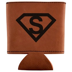 Super Hero Letters Leatherette Can Sleeve (Personalized)
