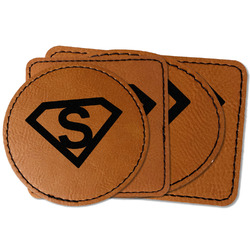 Super Hero Letters Faux Leather Iron On Patch (Personalized)