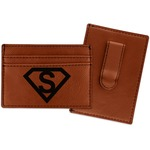 Super Hero Letters Leatherette Wallet with Money Clip (Personalized)