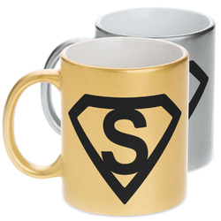 Super Hero Letters Metallic Mug (Personalized)