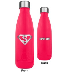 Super Hero Letters RTIC Bottle - 17 oz. Pink - Engraved Front & Back (Personalized)