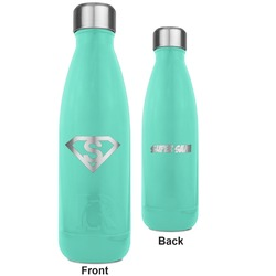 Super Hero Letters RTIC Bottle - Teal - Engraved Front & Back (Personalized)