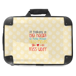 Teacher Quote Hard Shell Briefcase (Personalized)