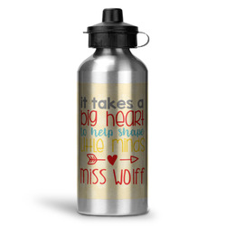 Teacher Quote Water Bottle - Aluminum - 20 oz (Personalized)