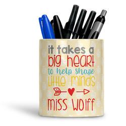 Teacher Quote Ceramic Pen Holder