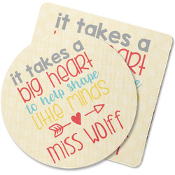 Teacher Quote Rubber Backed Coaster (Personalized)