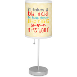 "Teacher Quote 7"" Drum Lamp with Shade (Personalized)"