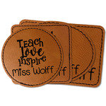 Teacher Quote Faux Leather Iron On Patch (Personalized)