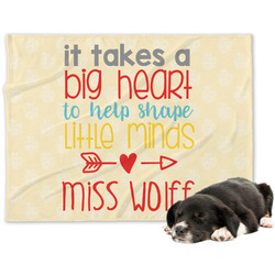 Teacher Quote Dog Blanket (Personalized)