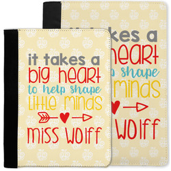 Teacher Quote Notebook Padfolio w/ Name or Text