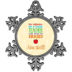 Teacher Quote Vintage Snowflake Ornament (Personalized)