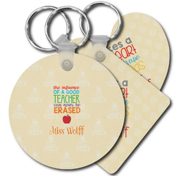 Teacher Quote Plastic Keychains (Personalized)