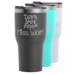 Teacher Quote RTIC Tumbler - Black (Personalized)