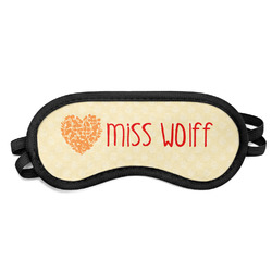 Teacher Quote Sleeping Eye Mask - Small (Personalized)