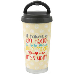 Teacher Quote Stainless Steel Coffee Tumbler (Personalized)