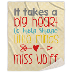 Teacher Quote Sherpa Throw Blanket (Personalized)
