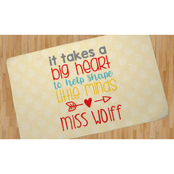 Teacher Quote Area Rug (Personalized)