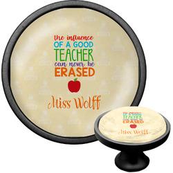 Teacher Quote Cabinet Knob (Black) (Personalized)