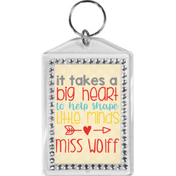 Teacher Quote Bling Keychain (Personalized)