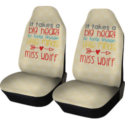 Teacher Quote Car Seat Covers (Set of Two) (Personalized)