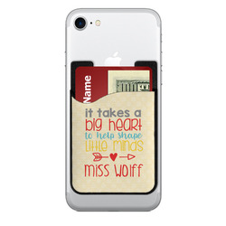 Teacher Quote 2-in-1 Cell Phone Credit Card Holder & Screen Cleaner (Personalized)