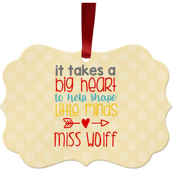 Teacher Quote Ornament (Personalized)
