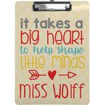 Teacher Quote Clipboard (Personalized)