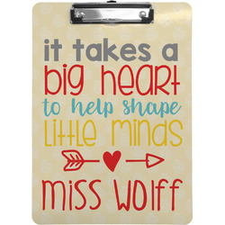Teacher Quote Clipboard (Personalized)