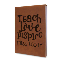 Teacher Quote Leatherette Journal (Personalized)