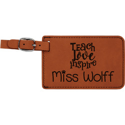 Teacher Quotes and Sayings Leatherette Luggage Tag (Personalized)