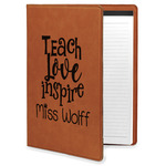 Teacher Quote Leatherette Portfolio with Notepad (Personalized)