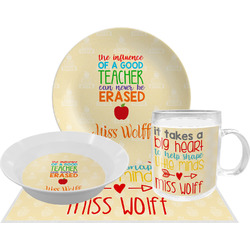 Teacher Quote Dinner Set - 4 Pc (Personalized)