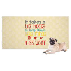 Teacher Quote Dog Towel (Personalized)