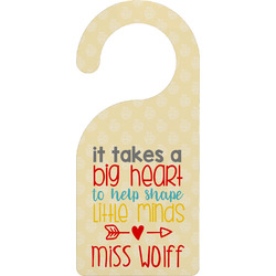 Teacher Quote Door Hanger (Personalized)