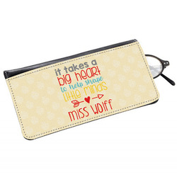 Teacher Quote Genuine Leather Eyeglass Case (Personalized)