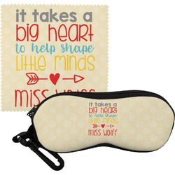 Teacher Quote Eyeglass Case & Cloth (Personalized)