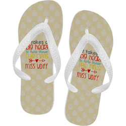Teacher Quote Flip Flops (Personalized)