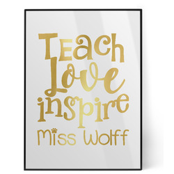 Teacher Quotes and Sayings Foil Print (Personalized)
