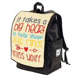 Teacher Quote Backpack w/ Front Flap (Personalized)