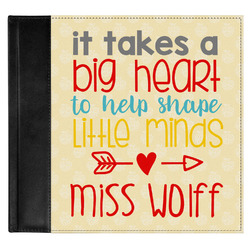 Teacher Quote Genuine Leather Baby Memory Book (Personalized)
