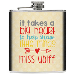 Teacher Quote Genuine Leather Flask (Personalized)