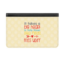 Teacher Quote Genuine Leather ID & Card Wallet - Slim Style (Personalized)